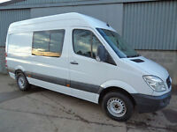 Mercedes Sprinter 313 CDi crew mess van, MWB high top 2013 13 reg