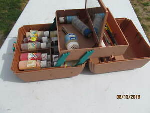 SASSABY PAINTING ARTISTS KIT, ACRYLIC PAINT+BUSHES