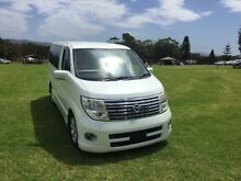 2006 Nissan Elgrand E51 VG AERO Pearl White 5 Speed Automatic 5 DOORS PEOPLE MOVER North Wollongong Wollongong Area Preview