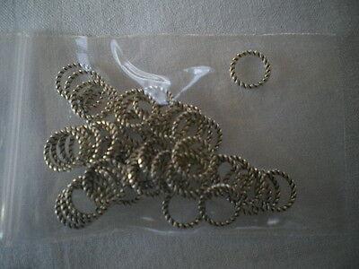 100 Stück Binderinge geschlossen ca. 5 mm, Farbe altsilber