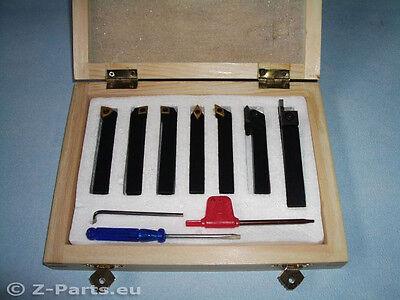 Drehstahl Set HM mit Wendeplatten 7-teilig 8 x 8 mm Drehmeißel Satz NEU