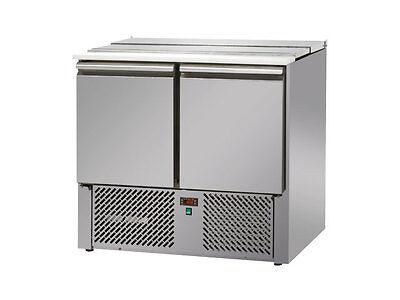 Imbiss Döner Gastronomie Kühltisch Saladette 0,9mx0,7m - mit 2 Türen