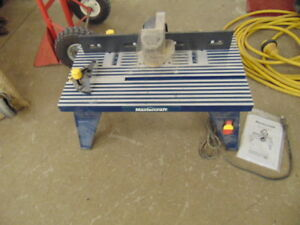 MASTERCRAFT ROUTER TABLE LIKE NEW
