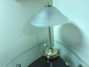 2 glass shades table lamps--$40.00