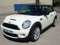 2008 58 MINI HATCH COOPER 1.6 COOPER S 3d 172 BHP *FULL YEAR MOT*SERVICE RECORD*PART LEATHER*