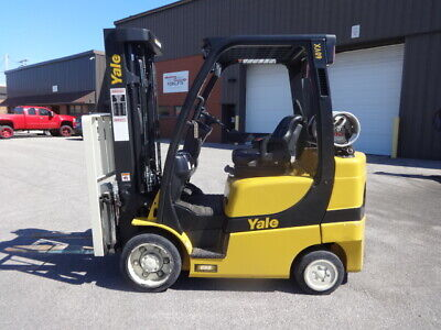 2019 Yale Glc060 6000 Pound Lp Gas Forklift Only 1 Year Old With 477 Hours