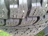 265 \70 R 17  STUDED WINTER TIRES  with  RIMS FORD F 150