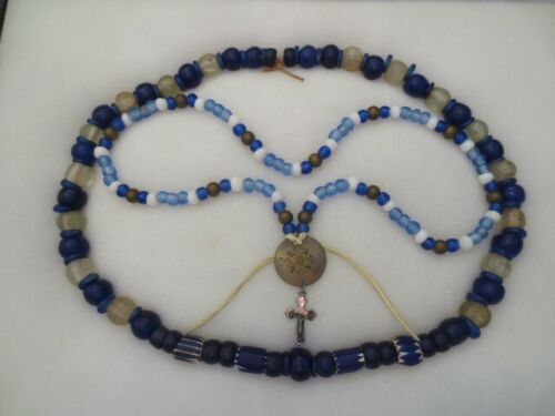 """2  25-32"""" Necklaces  Columbia River Native American Trade Beads Ex Baker Coll."""