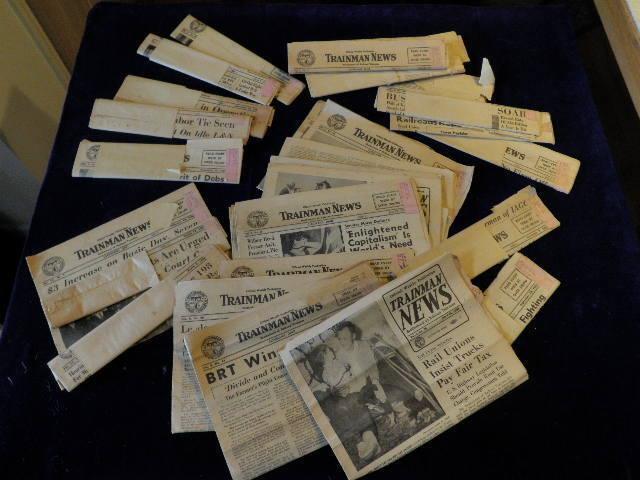 Vtg 1955 1956 Trainman News Newspaper Brotherhood of Railroad Union 27pc Lot A10