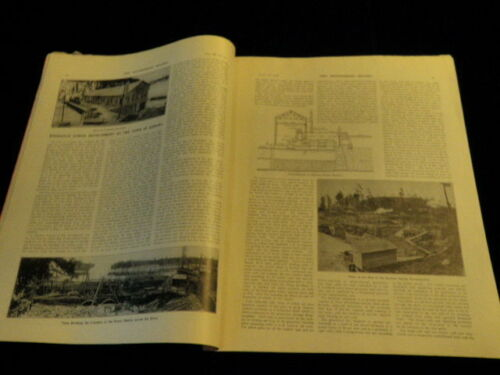 Engineering Record Magazine 1908 Kenora Ontario Canada Power + Machinery Ads A66