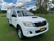 2014 Toyota Hilux KUN26R MY14 SR White 5 Speed Manual Cab Chassis South Grafton Clarence Valley Preview