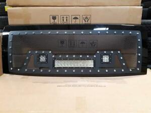 BRAND NEW 2009,2010,2011,2012, 2013 & 2014 FORD BLACK MESH LED GRILL WITH FULL SHELL-NO CUTTING REQ!-FINANCING AVAILABLE