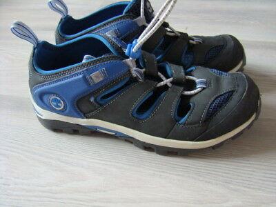 TIMBERLAND Schuhe 37 Zip Trail Fisherman Halb Sandalen SCHWARZ BLAU 1xgetr wNEU