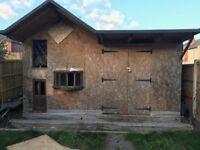 Shed / Workshop with inbuilt 2 storey Playhouse