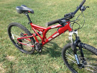 Norco Screamer 21 speed full suspension, with disc brakes
