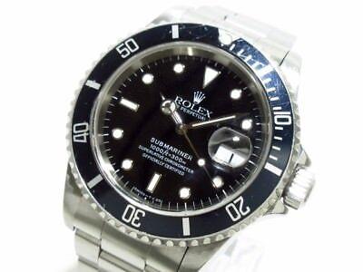 Auth ROLEX Submariner Date 16610 Black U504714 Men