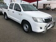 2012 Toyota Hilux GGN15R MY12 SR White 5 Speed Automatic Dual Cab Pickup Yagoona Bankstown Area Preview