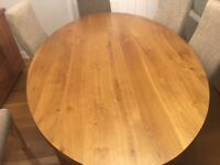 REDUCED - Solid Oak Dining Table - exceptional condition - must sell or its FIREWOOD