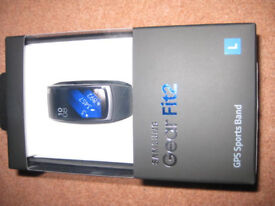 Samsung Gear Fit 2, in unopened box, with security seal. Strap size Large. Genuine reason for sale.