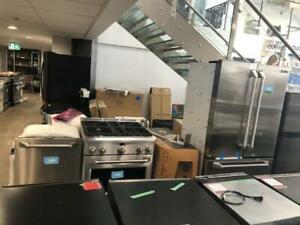 Combo Réfrigérateur porte française 36 po/cuisinière/lave-vaisselle GE, Vendu tel quel