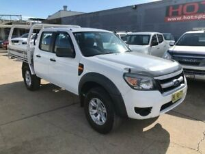 2011 Ford Ranger PK XL Crew Cab 4x2 Hi-Rider White 5 Speed Automatic Utility Granville Parramatta Area Preview