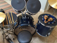 Great Value Beginners Drum Kit Complete with Practice Pads