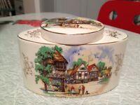 Staffordshire,England. Vintage Kitchen Ceramic Jar .