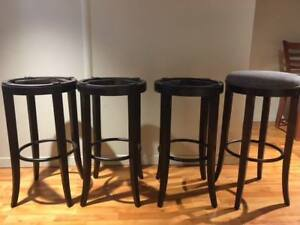 Set of 4 bar height stools by Geddes Furniture
