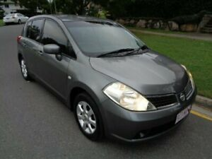 2009 Nissan Tiida C11 MY07 ST-L Grey Metallic 4 Speed Automatic Hatchback Chermside Brisbane North East Preview