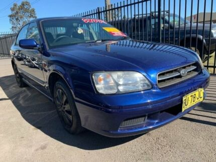 2001 Subaru Liberty B3 MY02 GX Blue Manual Sedan Edgeworth Lake Macquarie Area Preview