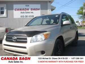 2008 Toyota RAV4, 4WD, AC, CRUISE, 12 M WRTY+SAFETY ONLY $6990