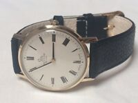 Vintage solid 9k 9ct gold Record mens watch (longines)