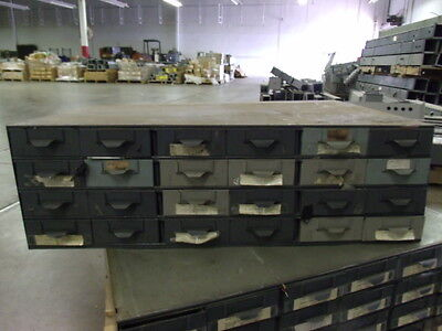 Lyon Metal Supply Parts Bin Cabinet With 24 Drawers