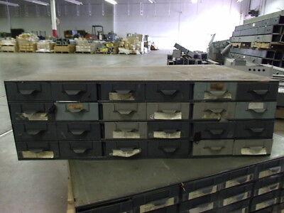 Lyon Metal Supply Parts Bin Cabinet W 24 Drawers 34 X 23 X 10