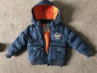 Next Navy Blue Boys Coat Age 3-4