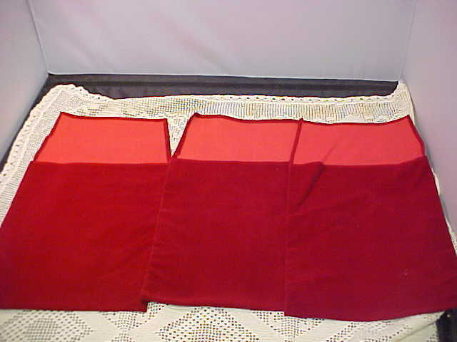 Red Pouches 3 Total Presentation 7-3/4 x 9-3/4 Faux Ultra Suede Plaque Holder