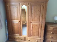 Solid Waxed Pine - Bedroom Furniture Set