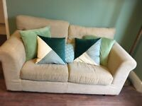 cream sofa - two seater