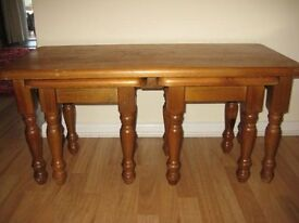 Top Quality Vintage Nest Of Pine Tables OFFERS WELCOME