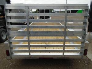 6X12 ALUMINUM UTILITY - SOLID SIDES, BI-FOLD GATE - SPECIAL! London Ontario image 9