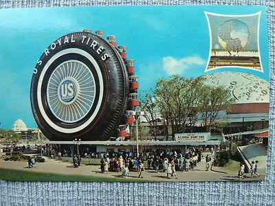 1964-65 NEW YORK WORLD'S FAIR U.S. RUBBER FERRIS WHEEL VINTAGE POSTCARD