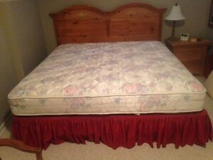 King Mattress and Boxspring