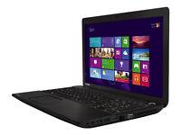 Toshiba laptop 2.5ghz, 500hd, ddr3, webcam, dvdrw, win 10,usb3 hdmi
