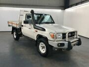 2013 Toyota Landcruiser VDJ79R MY13 WORKMATE French Vanilla Manual CAB CHASSIS SINGLE CAB Albion Brimbank Area Preview