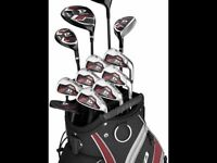 WILSON Deep Red Ensemble complet + Fers TaylorMade RocketBladez