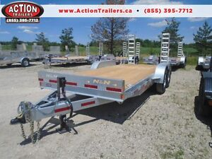 GALVANIZED 7 TON EQUIPMENT TRAILER - CANADIAN MADE N&N 7 X 18'