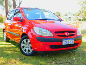 2006 Hyundai Getz TB MY06 Red 5 Speed Manual Hatchback