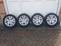 MG TF Alloy Wheels and Tyres - 15 inch