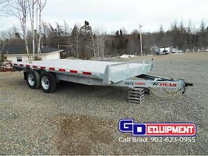 8 1/2' x 16' Deck over flat bed, Galvanized, 10,400 LB