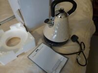 EGL PYRAMID 3kw FAST BOIL CORDLESS KETTLE---BOXED CREAM / BEIGE COLOUR